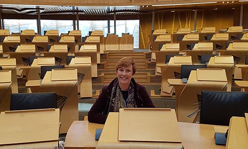 Alison in Scottish Parliament