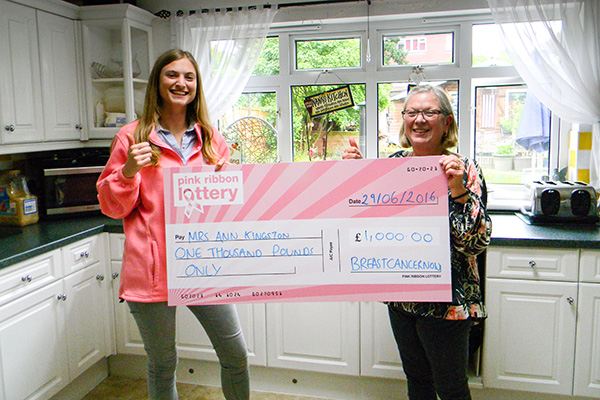 Our Pink Ribbon Lottery winner Ann