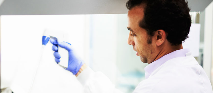 Cambridge - Image of a researcher working in a laboratory
