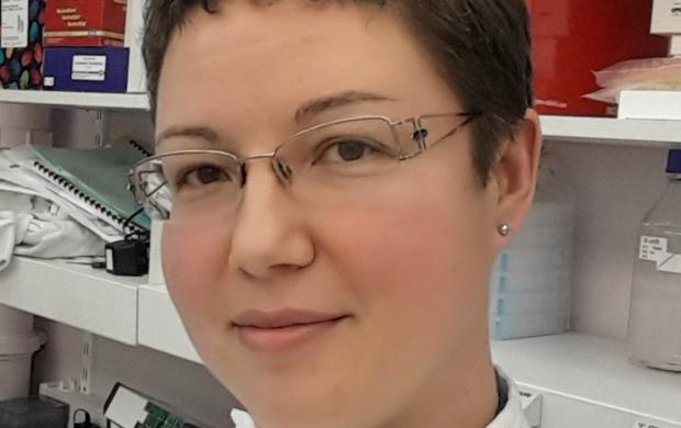 Anna, a researcher, in her lab