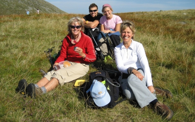 A group taking on the Ben Nevis challenge
