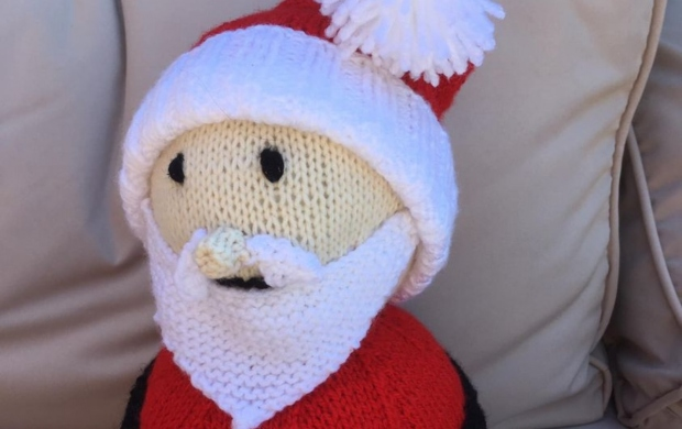 small knitted santa claus