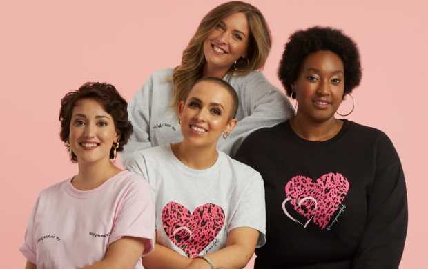 Charlotte, Nicky, Selin and Shevelle all sit together while modelling Dorothy Perkins outfits
