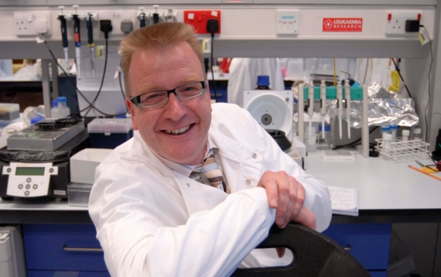 Professor Andy Sewell in his lab