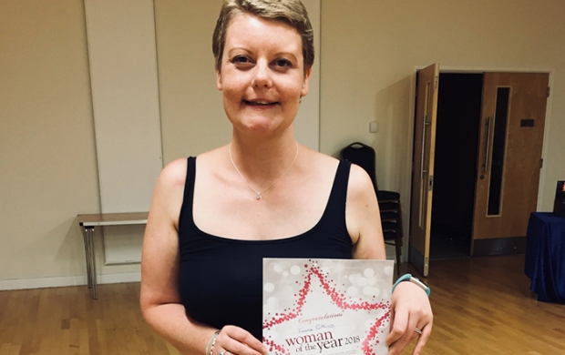 Emma with her Slimming World certificate