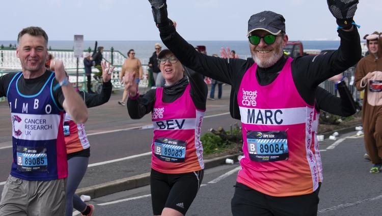 Runner in marathon