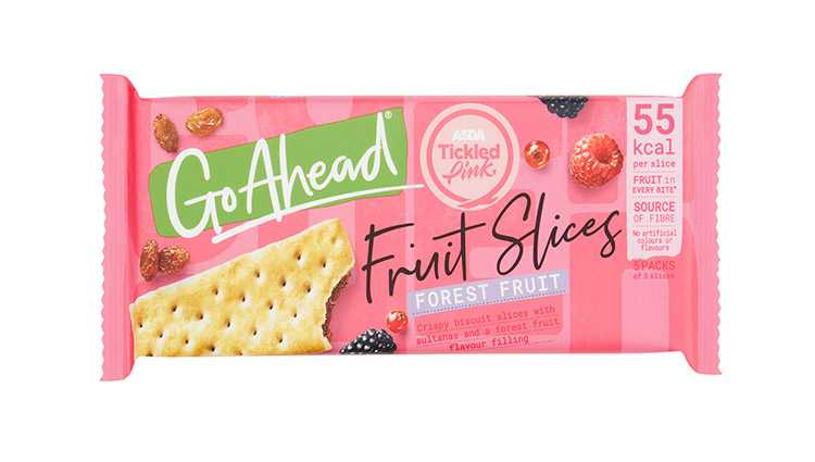 Go Ahead cereal bar in special pink packaging