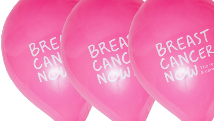 Breast Cancer Now balloons