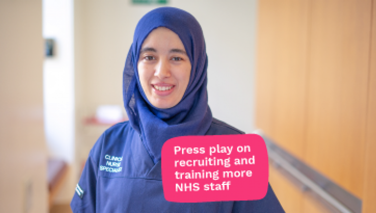 Press play on increasing NHS staff