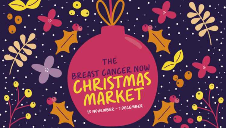 The online Breast Cancer Now Christmas Market will take place on 15 November to 1 December