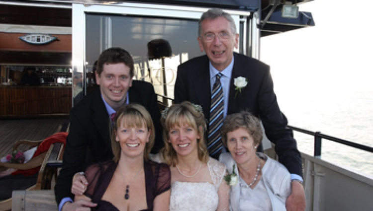 Bob with his family