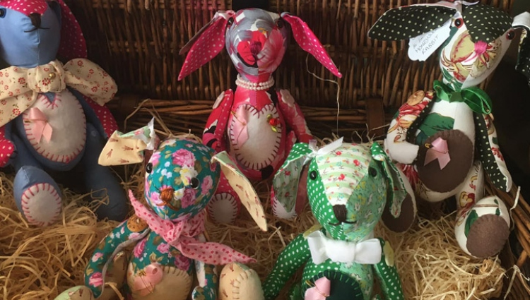 DIY bunnies crafted for fundraising