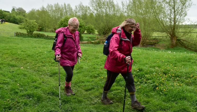 Taking part in a Pink Ribbon Walk