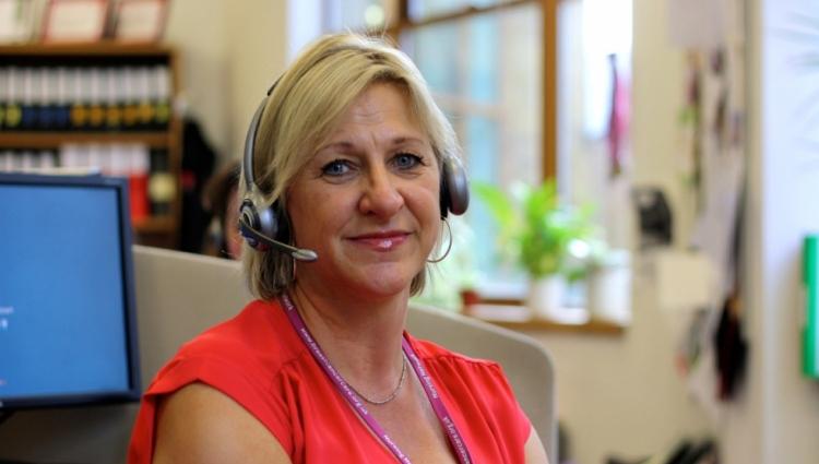 Helpline staff