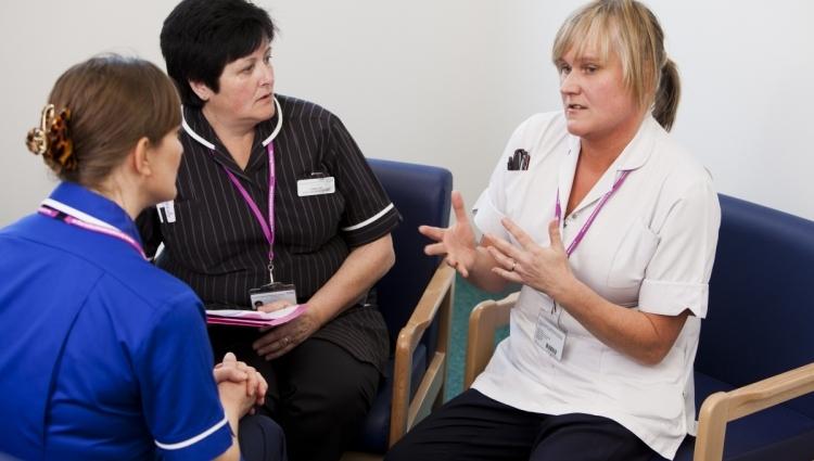 Image of nurses talking
