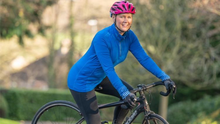 Tour De Law cyclist
