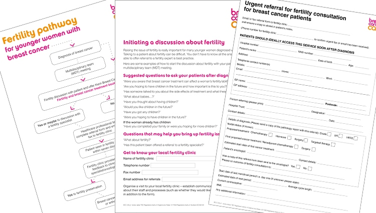 image of Breast Cancer Care's online fertility toolkit