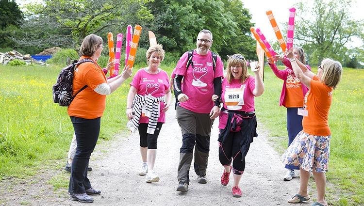 Volunteer at a Pink Ribbon Walk