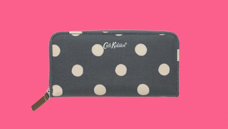 Cath Kidston charcoal wallet