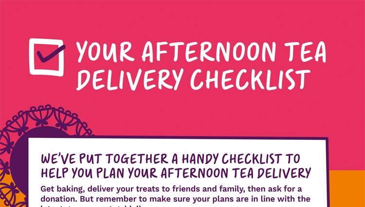 Afternoon Tea delivery checklist