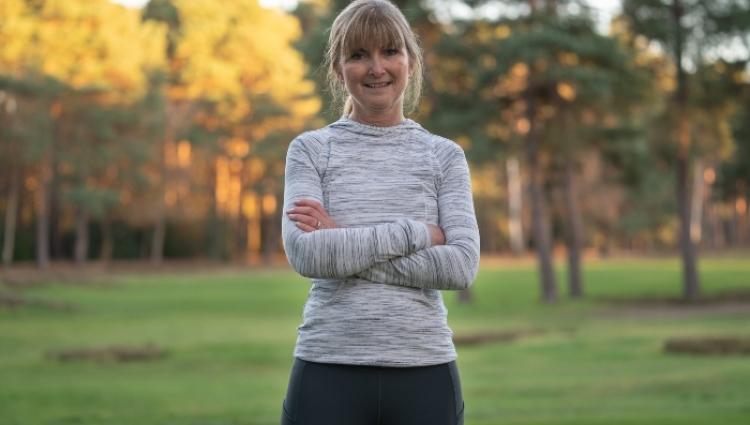 Davina training for a half marathon