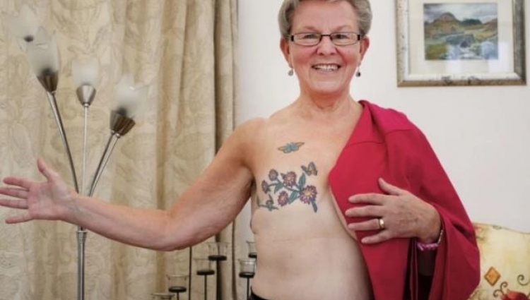 Liz's mastectomy tattoo design