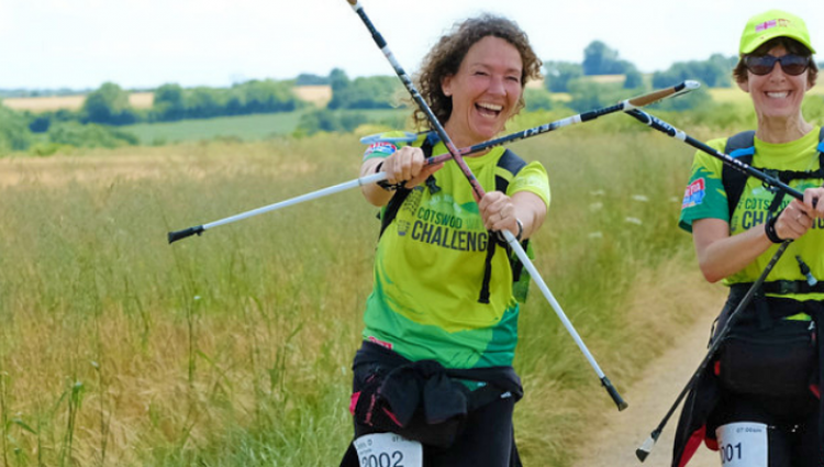 Cotswold Ultra Challenge hikers