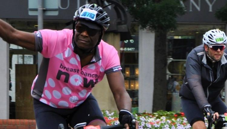 Man riding his bike at Ride 46
