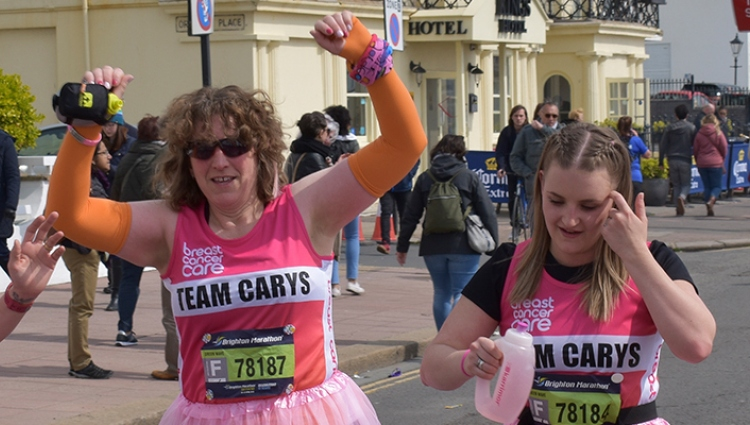A group of Breast Cancer Now runners