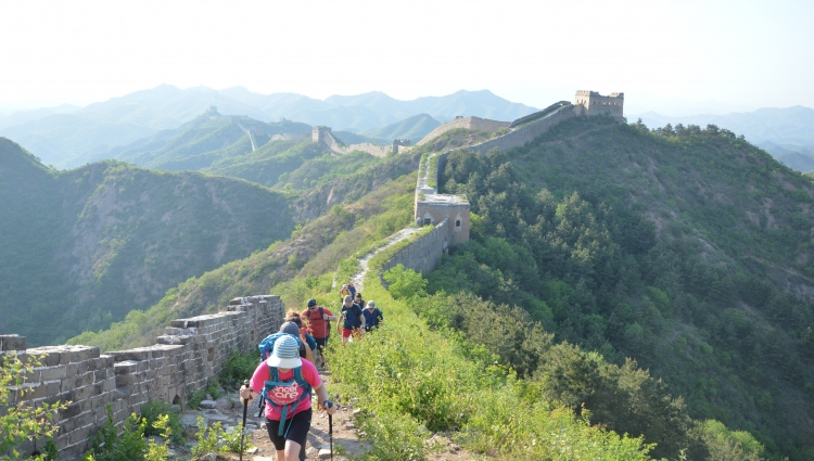 Walkers on the Great Wall of China for Breast Cancer Care
