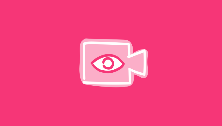 Facebook Live icon pink