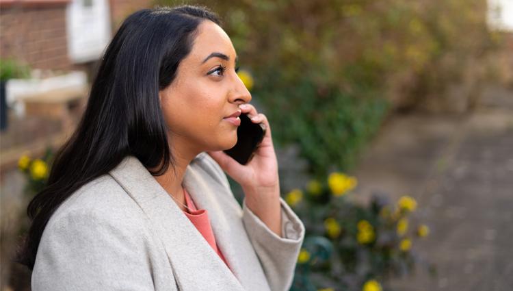 A helpline service user