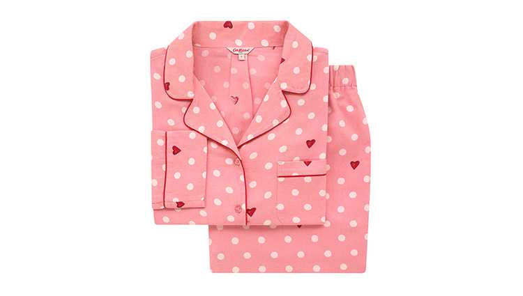 light pink pyjama set