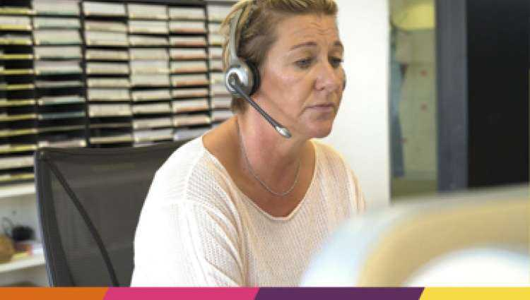 Breast Cancer Now Nurse using the phone