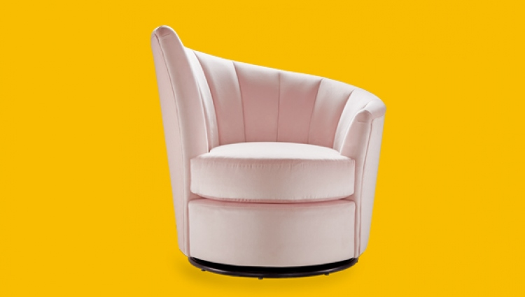 Sofology pink lily chair