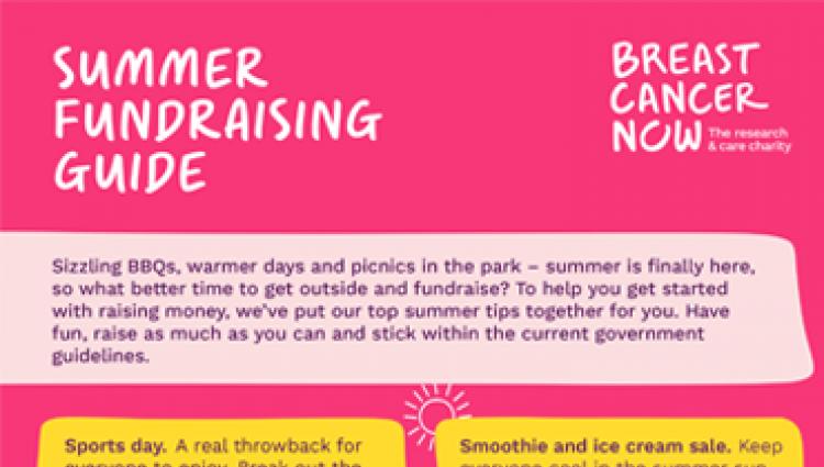 Summer fundraising guide