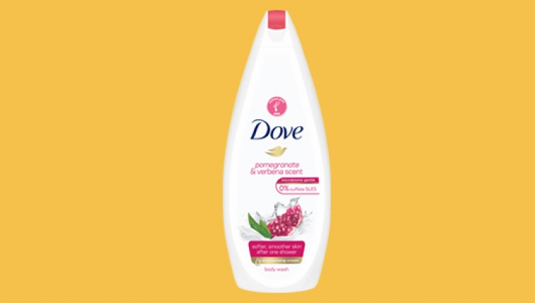 Tickled Pink Dove pomegranate body wash