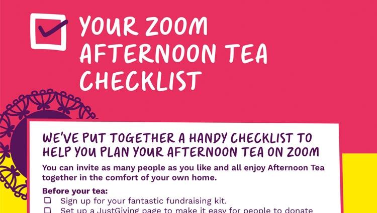 Afternoon Tea on Zoom checklist