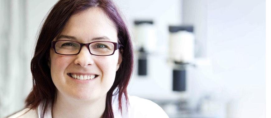 Professor Jo Morris in the lab