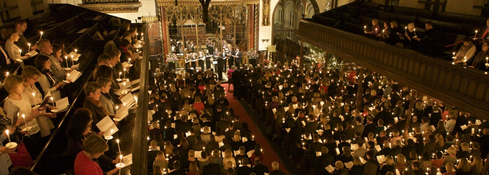 A shot of the 2016 carols by candlelight service at St Paul's Cathedral