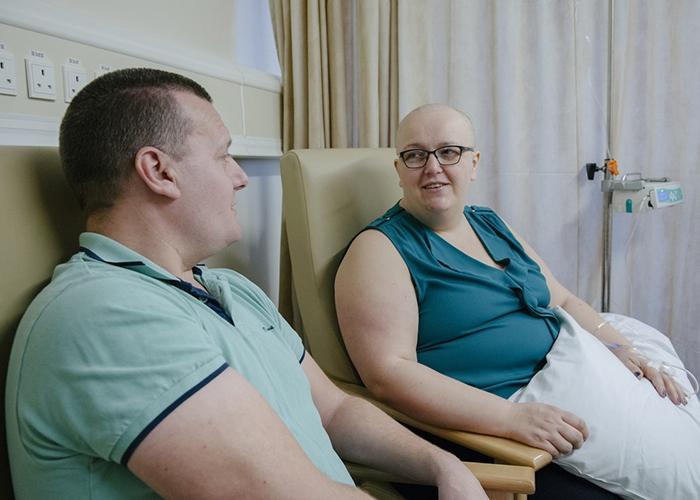 Having chemotherapy
