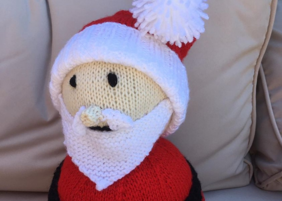 small knitted santa claus