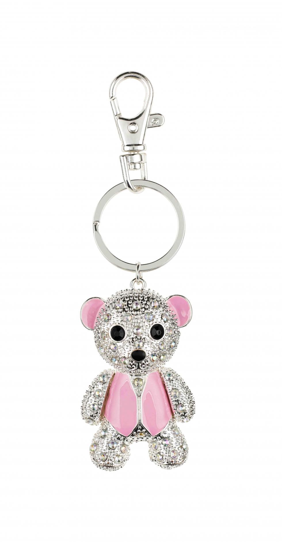 Asda Tickled Pink teddy keyring