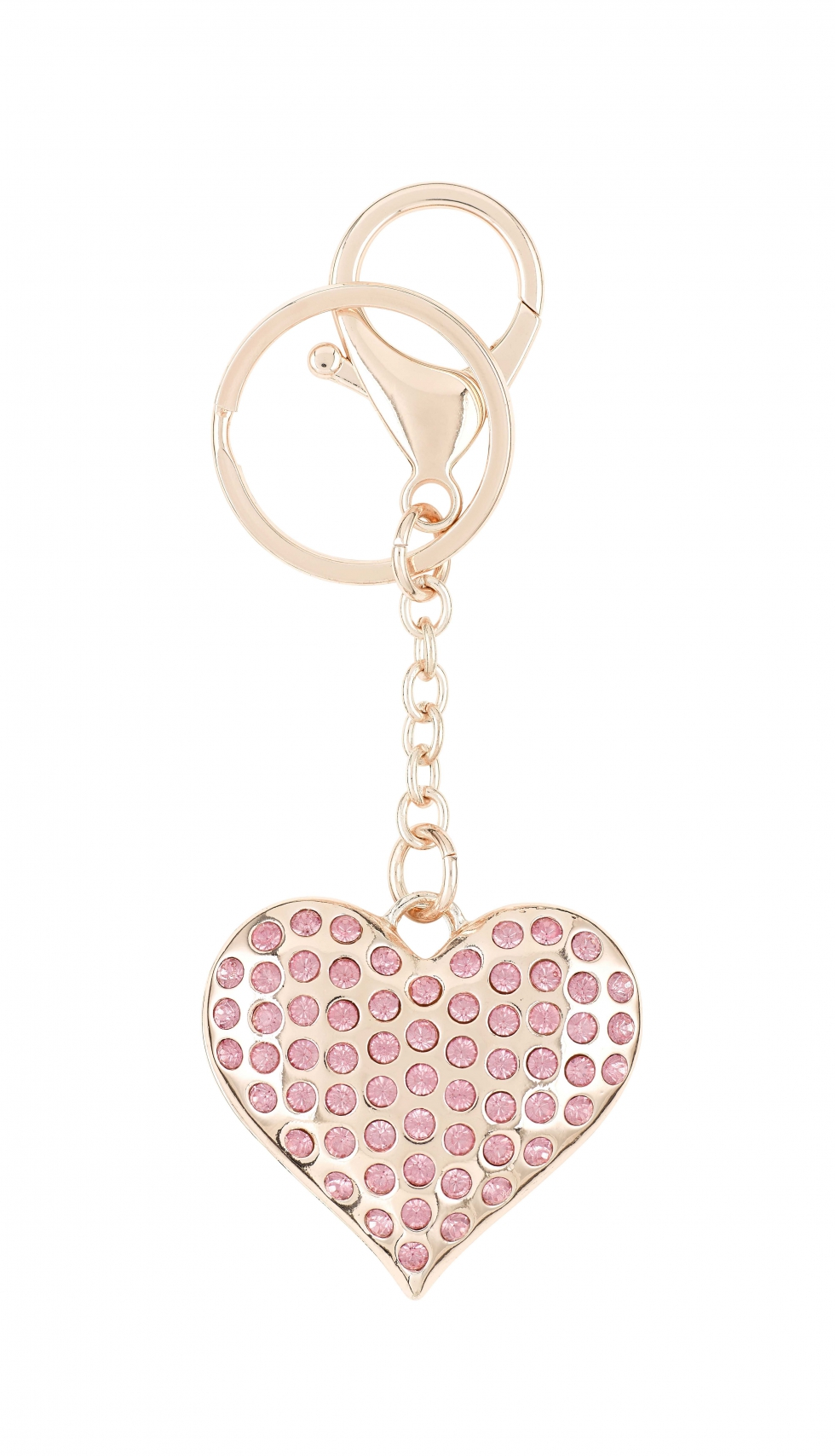 Asda Tickled Pink heart-shaped keyring