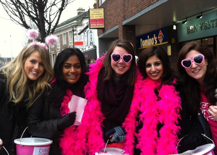Breast Cancer Care bucket collectors
