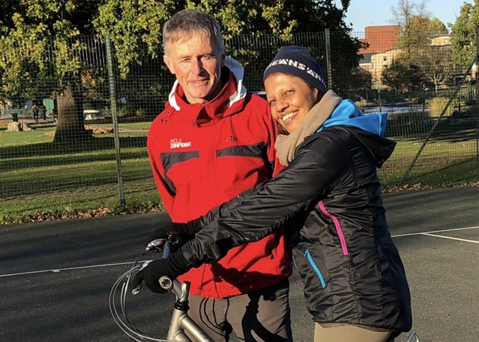 Bunshri learnt to cycle at 63