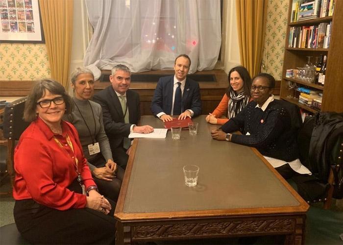 Breast Cancer Now representatives meet with Matt Hancock