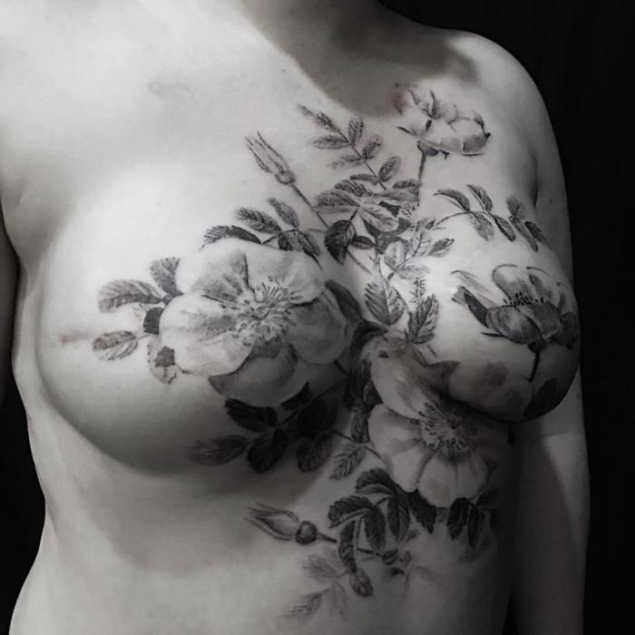 David Allen's mastectomy tattoo designs