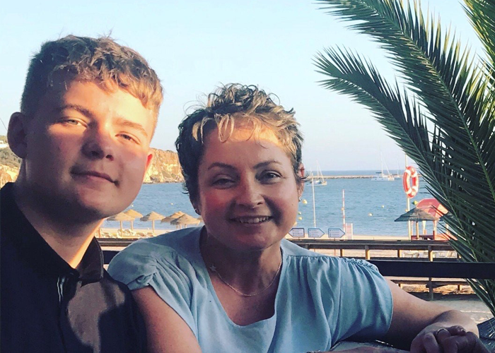 Charles and mum Eilidh on holiday
