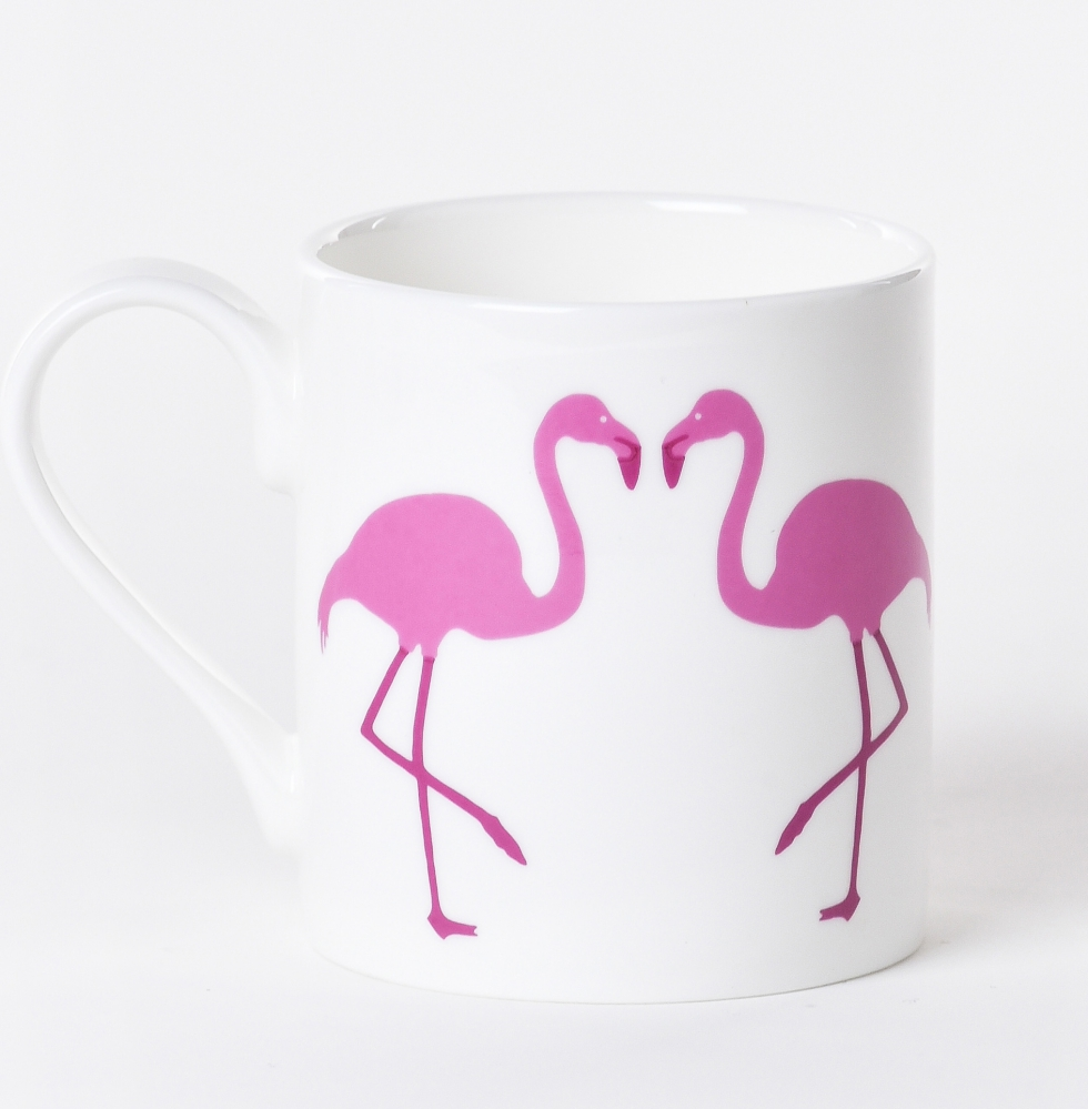 Breast Cancer Care pink flamingo mug